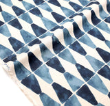 Kokka Painted Diamonds Rayon Linen - Blue - 50cm