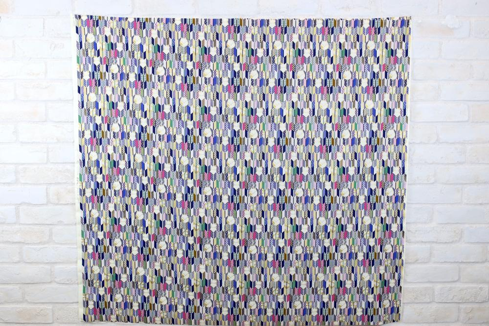 Kobayashi Fox Stripes Cotton Broad - Navy - 50cm
