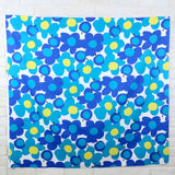 Hishiei Large Floral Cotton Canvas Oxford - Blue - 50cm