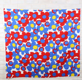 Hishiei Large Floral Fruit Cotton Canvas Oxford - Red Blue - 50cm