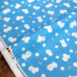 Cosmo Bichon - Cotton Double Gauze - Blue - 50cm