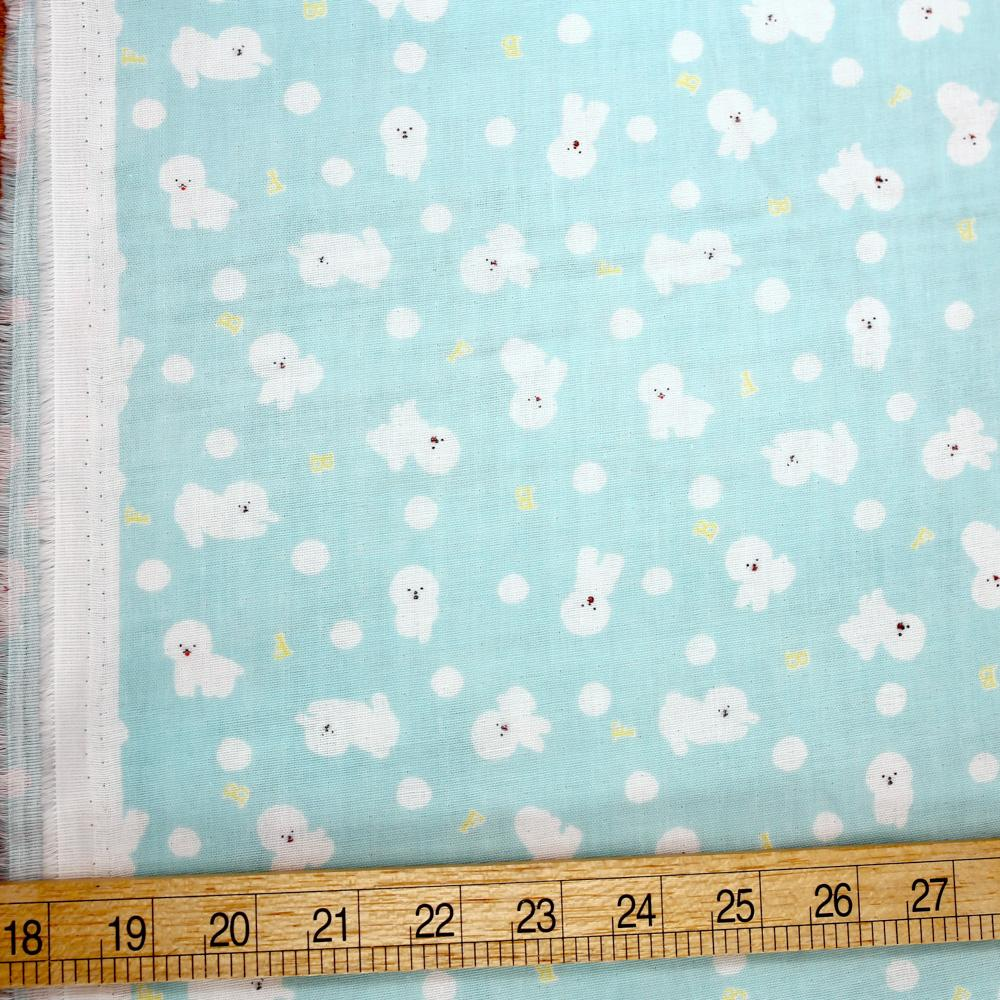 Cosmo Bichon - Cotton Double Gauze - Light Blue - 50cm