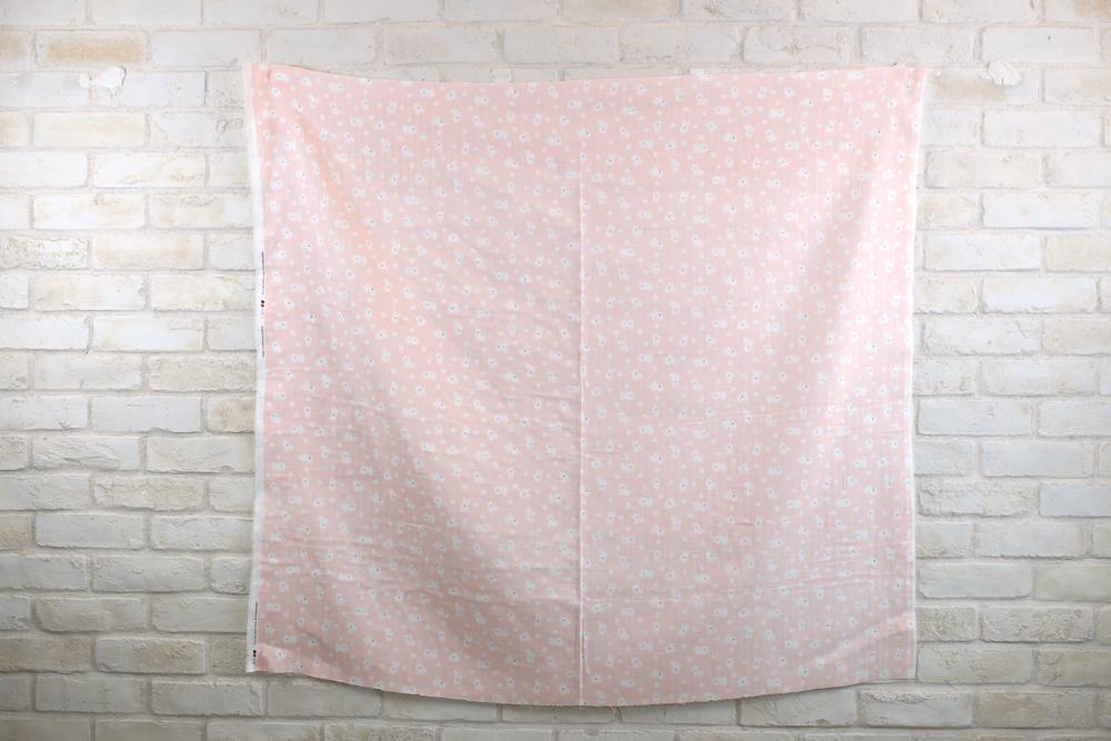 Cosmo Bichon - Cotton Double Gauze - Pink - 50cm