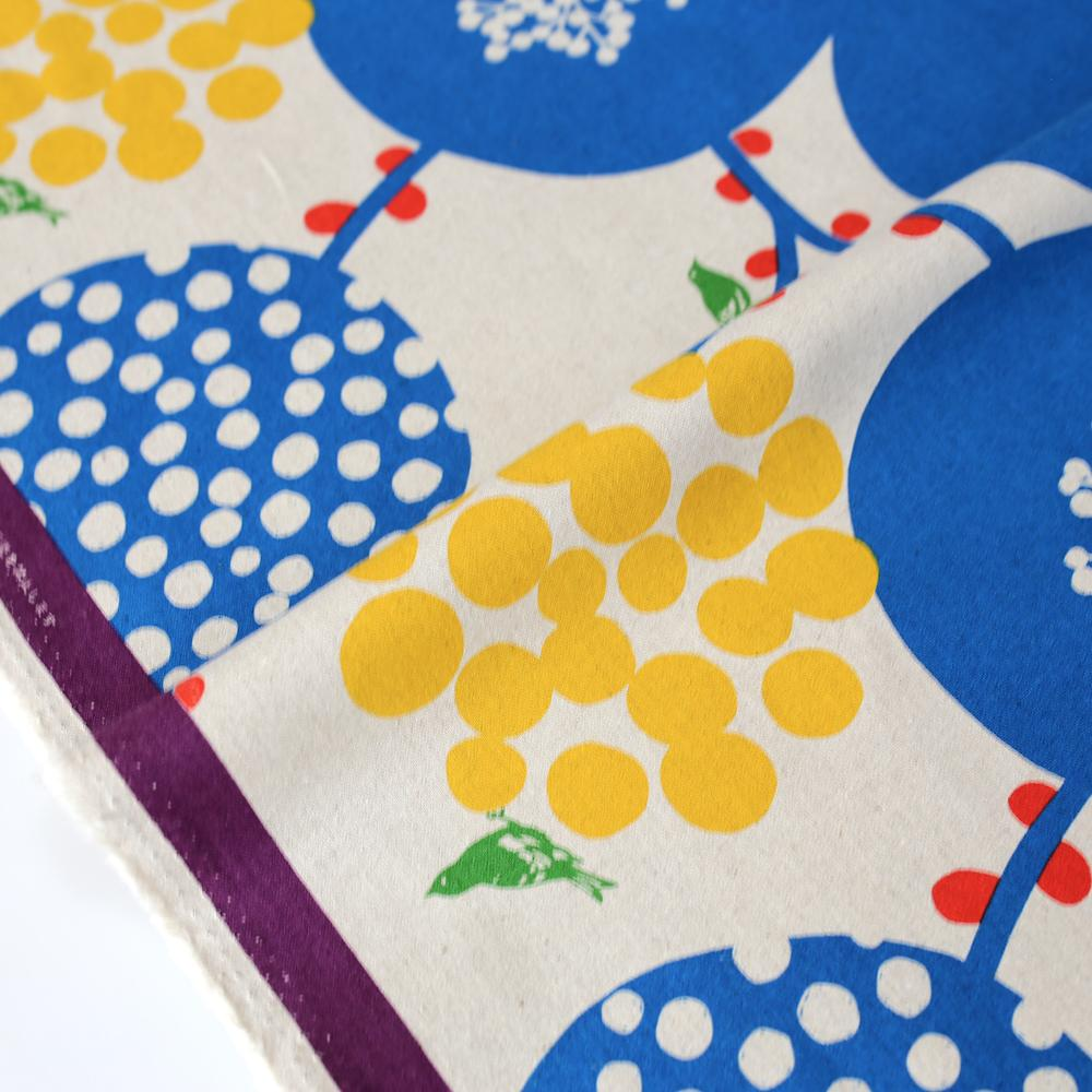 Kokka Echino Big Berry Canvas - Blue - 50cm