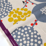 Kokka Echino Big Berry Canvas - Grey - 50cm