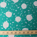 Kokka Echino Circle Metallic Canvas - Emerald - 50cm