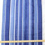 Kokka Textile Watercolour Stripes Double Gauze - Dark Blue - 50cm - Nekoneko Fabric