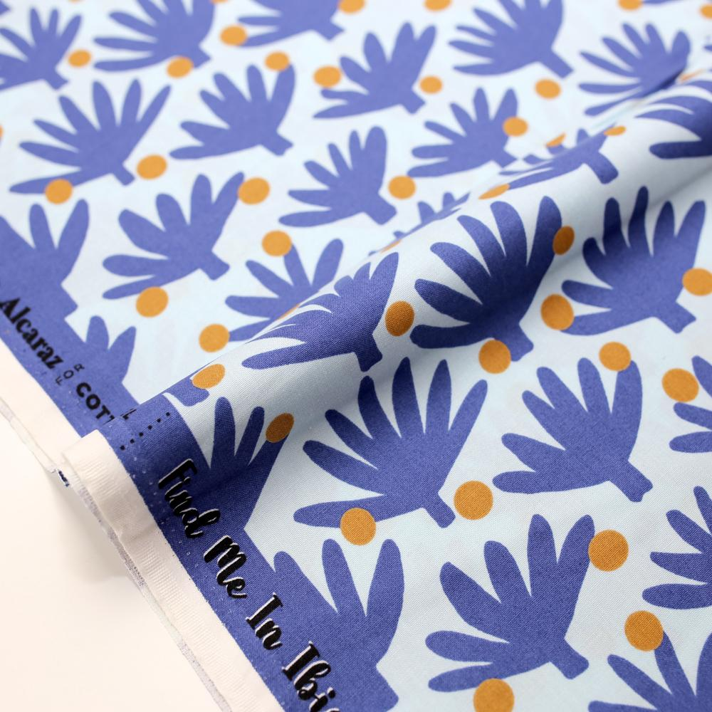 Cotton + Steel Find me in Ibiza Flamenco Cotton - Blue Haze - Half Yard