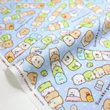 Kokka San X Sumikko Gurashi Medley Cotton Oxford Canvas - Blue - 50cm