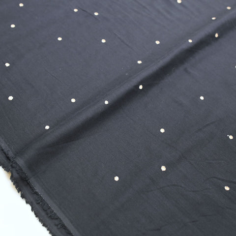 Atelier Brunette Stardust Double Gauze - Night - 50cm - Nekoneko Fabric