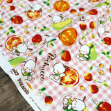 Sanrio Pochaco Citrus Plaid - Cotton Canvas - Pink - 50cm