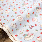 Sanrio Hello Kitty Friends Clouds - Cotton Sheeting - Blue - 50cm