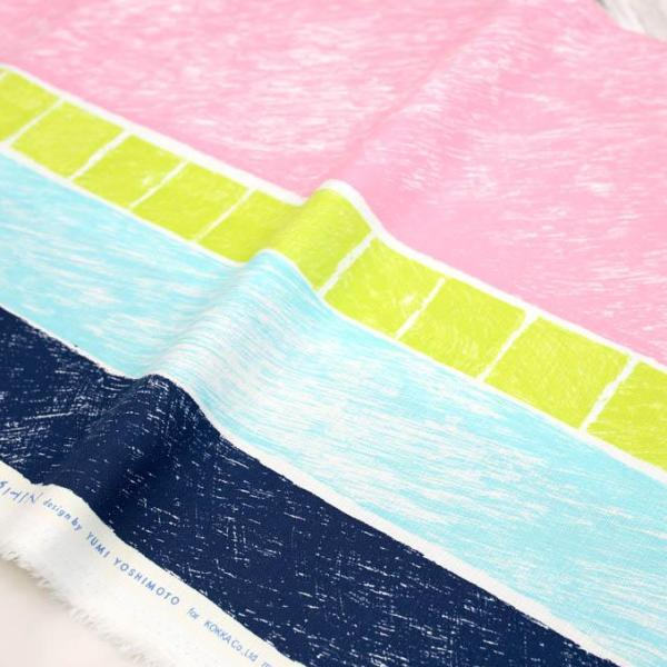 Kokka Keshiki River Side Soft Cotton Canvas - pink - 50cm - Nekoneko Fabric