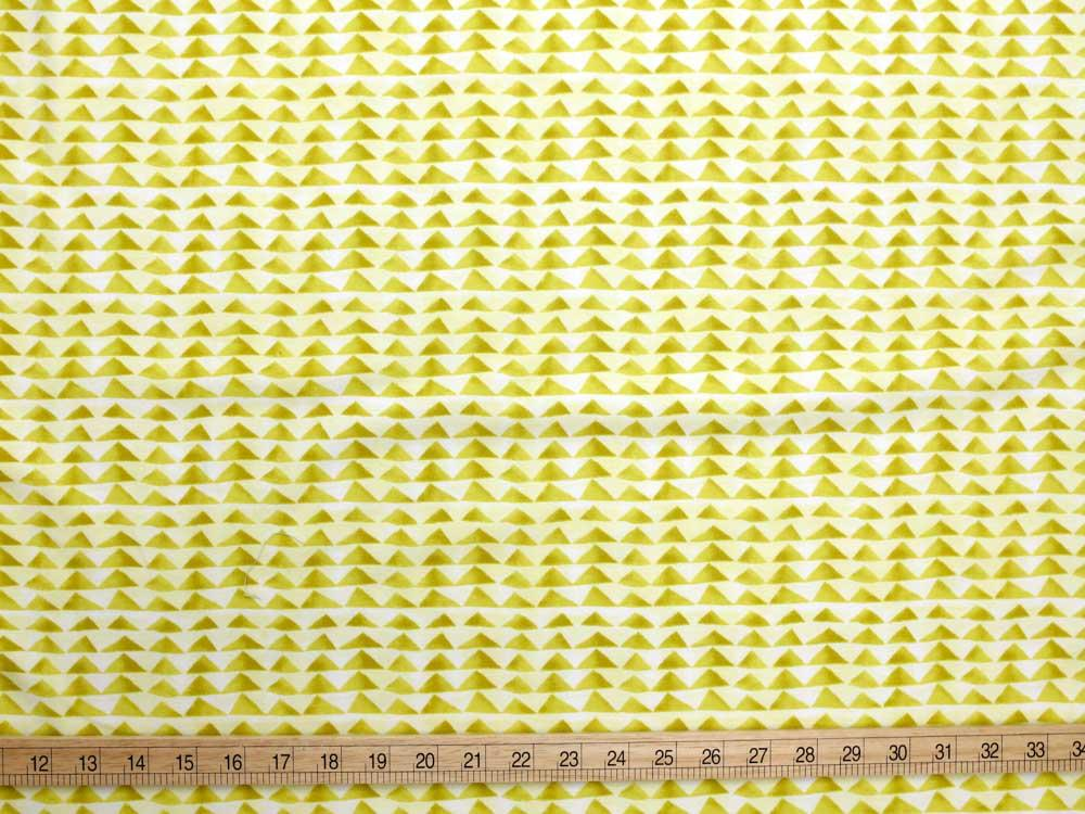 (chope) Cotton + Steel Once Upon A Time Little Mountain Knits - Citron - half yard - Nekoneko Fabric