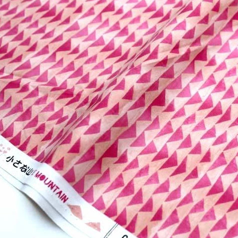 (chope) Cotton + Steel Once Upon A Time Little Mountain Cotton - PInk - half yard - Nekoneko Fabric
