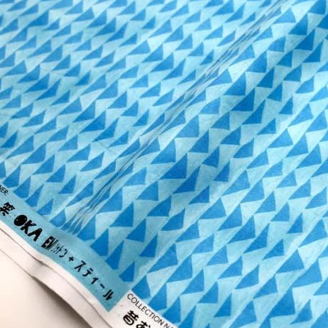 (chope) Cotton + Steel Once Upon A Time Little Mountain Cotton - Blue - half yard - Nekoneko Fabric