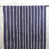 3 min Kokka Wide Stripes Cotton Linen Sheeting - navy blue - 50cm - Nekoneko Fabric