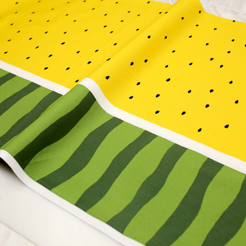 Kokka Watermelon Cotton Oxford - Yellow - 50cm
