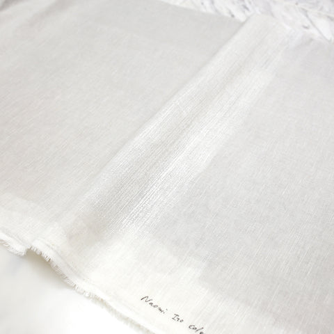 Nani IRO Kokka Naomi Ito Colors Drawing Colors Linen Gauze - White F - 50cm