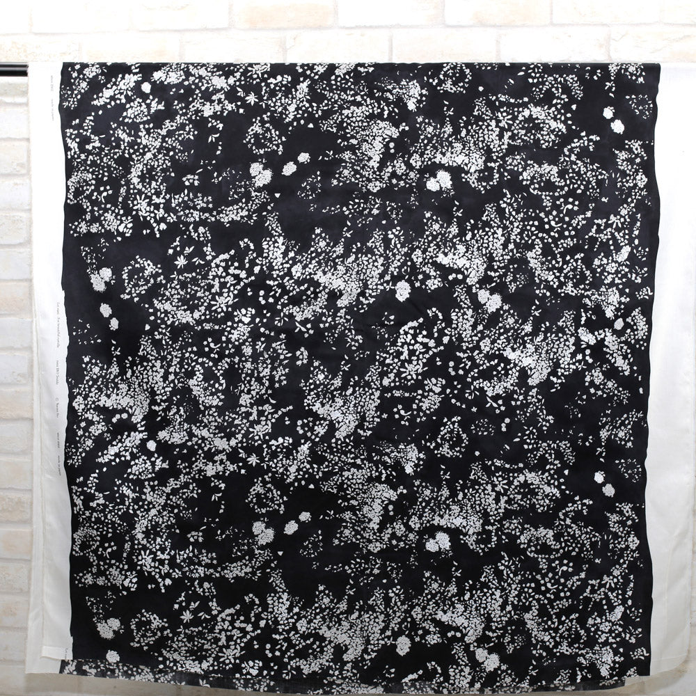 Nani IRO Kokka Lei Nani Cotton Sateen - Black B - 50cm