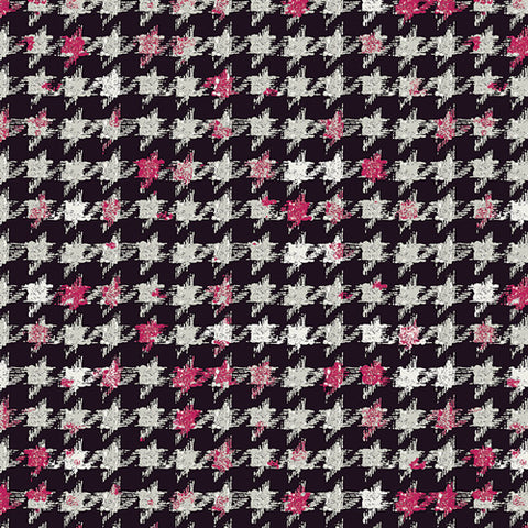 Art Gallery Fabric Decadence Hounstooth XIV Amour Knit - Cotton Knit - Half Yard - Nekoneko Fabric