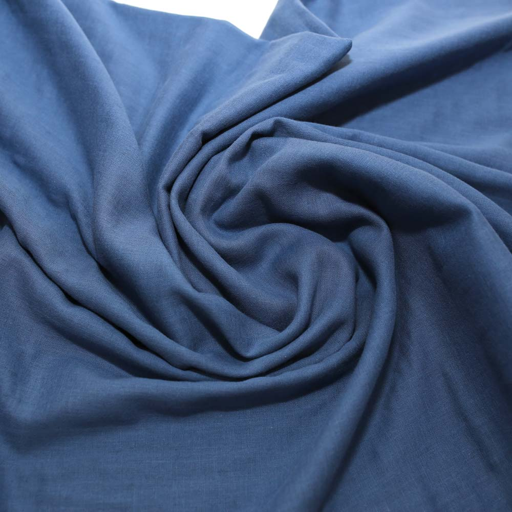 Kobayashi Solid Color Double Gauze - Blue - 50cm - Nekoneko Fabric