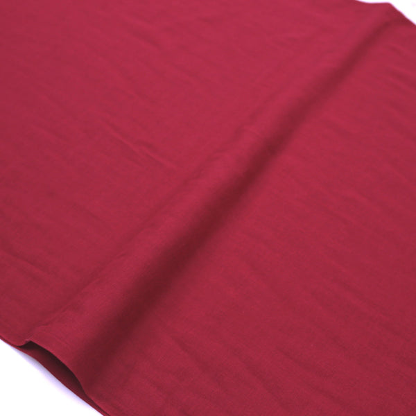 Kobayashi Solid Color Double Gauze - Wine - 50cm - Nekoneko Fabric