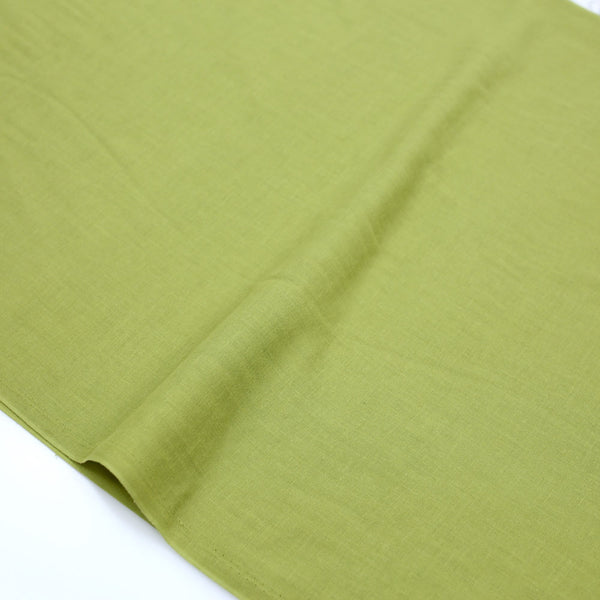 Kobayashi Solid Color Double Gauze - Green - 50cm - Nekoneko Fabric