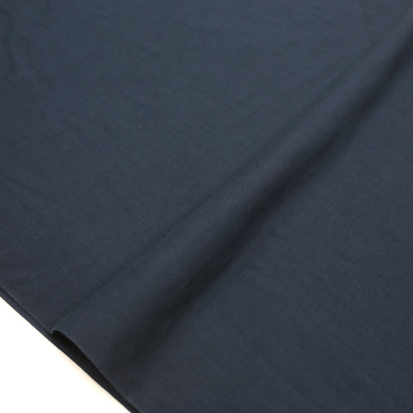 Kobayashi Solid Color Double Gauze - Navy - 50cm - Nekoneko Fabric