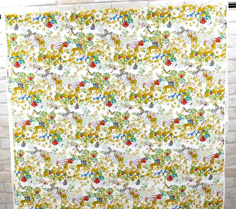 Kayo Horaguchi Botanical Garden Soft Canvas - Gold Yellow - 50cm - Nekoneko Fabric