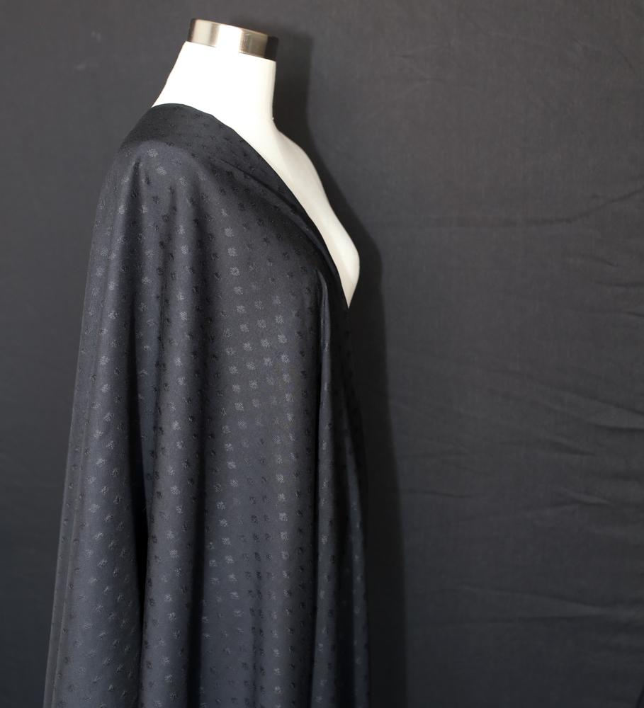 Atelier Brunette Diamond Viscose - Black - 50cm - Nekoneko Fabric