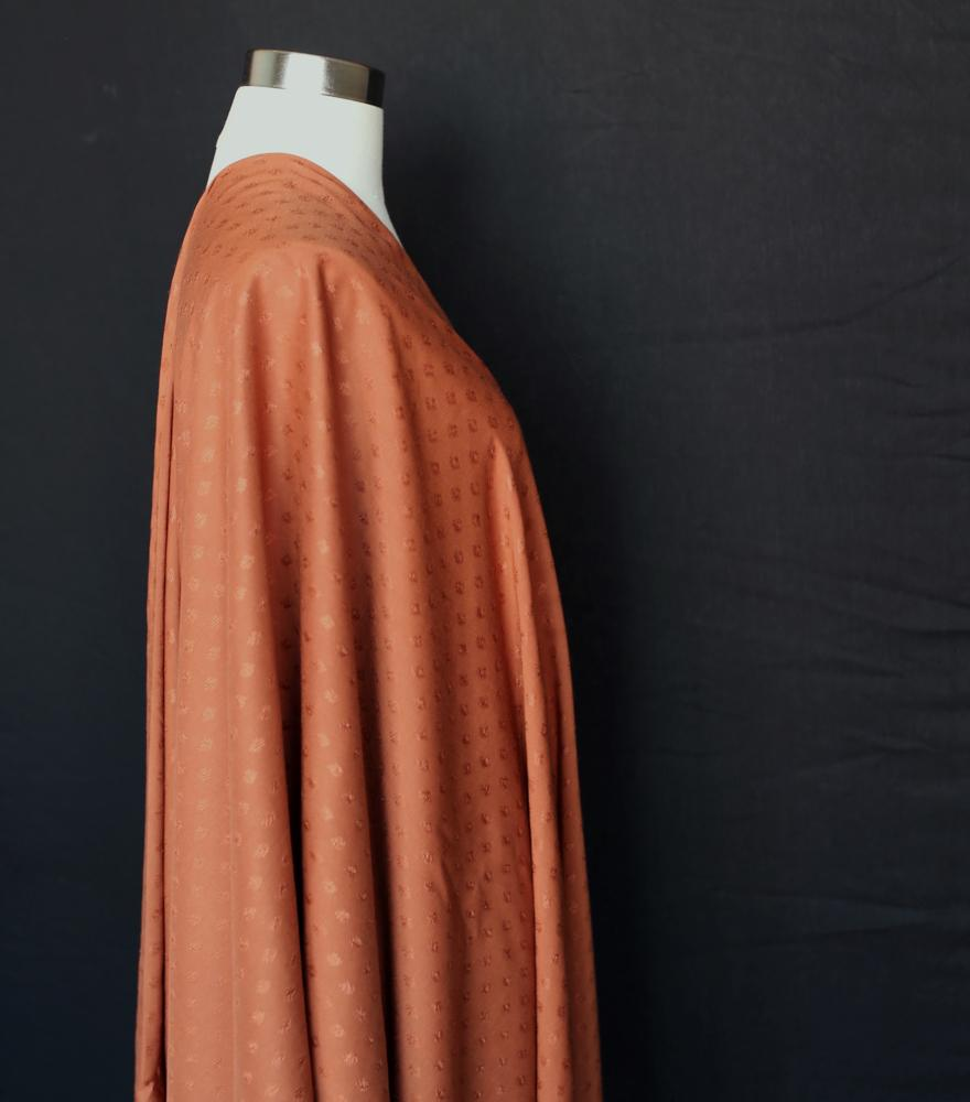 Atelier Brunette Diamond Viscose - Chestnut - 50cm - Nekoneko Fabric