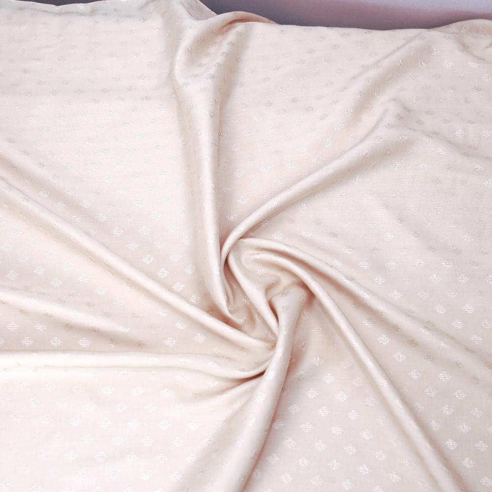Atelier Brunette Diamond Viscose - Blush - 50cm - Nekoneko Fabric