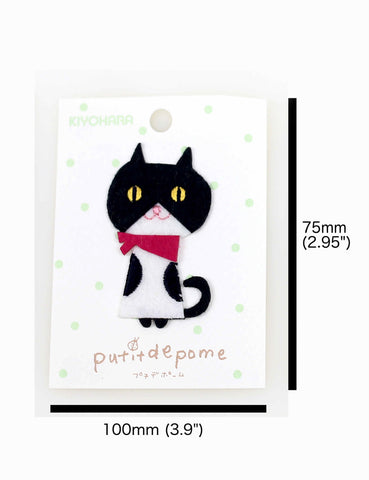 Putitdepome Felt Iron On Patches - One Cat