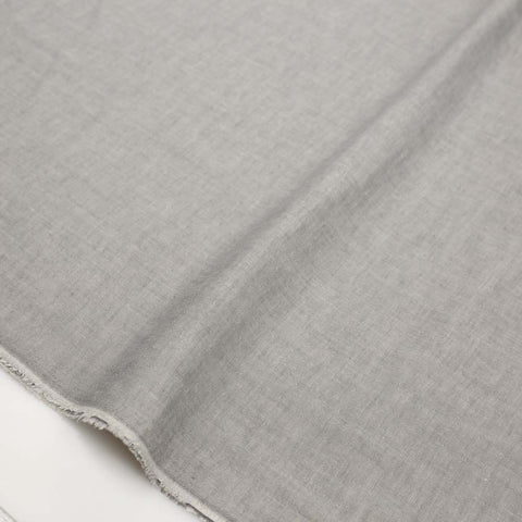 Kokochi Relax Gauze Solid Colour Double Gauze - Grey - Half Meter - Nekoneko Fabric