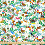 Kayo Horaguchi Matching Pattern Soft Canvas - Green - 50cm - Nekoneko Fabric