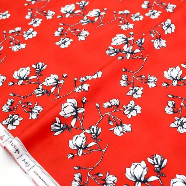 Art Gallery Fabric Silkroad Magnolia Study - Cotton - Half Yard - Nekoneko Fabric