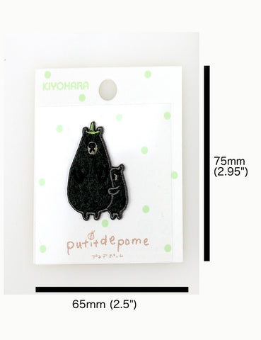 Putitdepome Embroidered Iron On Patches - Mini - Two Black Bears