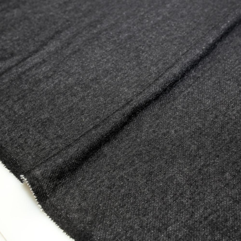 Japanese Baby French Terry Solids - Black - 50cm - Nekoneko Fabric