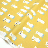 Putidepome Kiyohara Bear Soft Canvas - Yellow - 50cm - Nekoneko Fabric