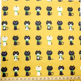 Putitdepome Kiyohara Cat Soft Canvas - Mustard - 50cm