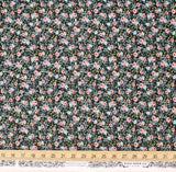 Cotton + Steel Rifle Paper Co Menagerie Rosa Cotton - Hunter - Half Yard - Nekoneko Fabric