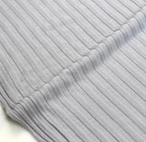 Japanese Tencel Ribbed Knits - Grey - 50cm - Nekoneko Fabric