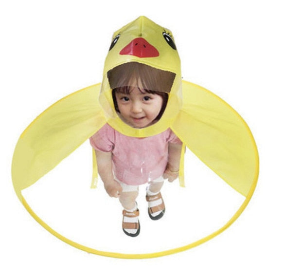 Umbrella: Cute Children's  Character Umbrella, New for 2019  (UFO Umbrella, Magical Hands Free Raincoat!)