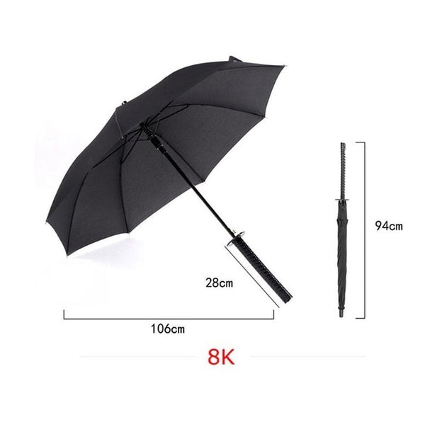 Umbrella: Men Long Handle Samurai Umbrella Knife umbrella accessories Handle Women Large Windproof Samurai Sword Umbrella Manual Open