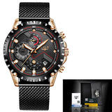 Watch: Men's Casual and Sport Watch, New for 2019 by LIGE, Water Resistant, Relogio Masculino