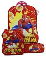 Children's Travel Luggage: 3 Pcs. (childrens suitcase and smaller boarding bags); Spiderman 3D stereo cartoon print.