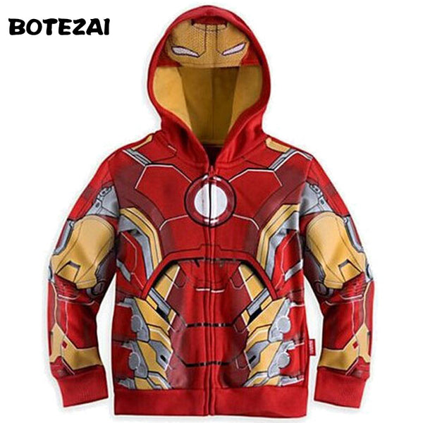 Avengers Hoodies / New for 2017 / Boys and Girls / Iron Man / Spiderman / Captain America / Hulk (and More) / Childrens Outerwear, Long Sleeves