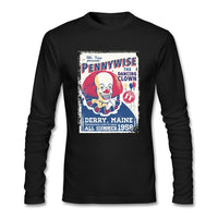 The Dancing Clown T-Shirt Men fashion For Sale Pennywise Shirt Cool Printed Short t shirts Brother graith