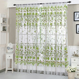 Peony Tulle Curtains for Bedroom Home Decor Living Room Window Curtains Decorative Window Screen Kids Drapes